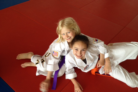 taekwondo kids wearing uniforms